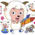 radiant lamb stickers (JDC265)